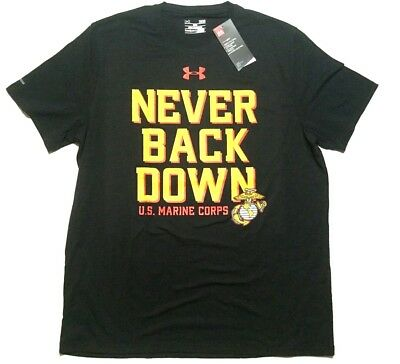 832794d85 New Under Armour Men s Large United States Marine Corps T Shirt Loose Fit  Black