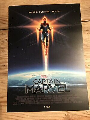 Captain Marvel Limited Edition Poster, Matt Ferguson, Odeon Exclusive, NEW A4