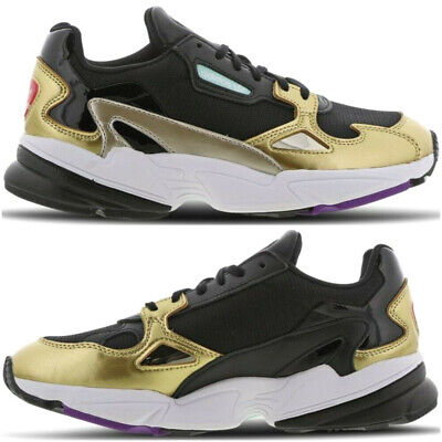 save off b2ed8 f8b38 NEW Adidas Falcon Bae x Kylie Jenner Womens Trainers Gold Black White  Sneakers