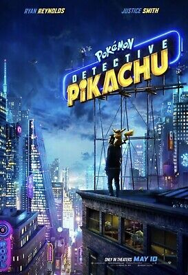 Pokémon Detective Pikachu 2019 Original D/S Movie Poster 27x40