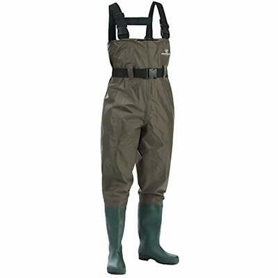 Chest Fishing Waders Hunting Bootfoot Wading Belt Waterproof Insulated Nylon PVC