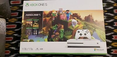 X box One S 1TB Console - Minecraft Creators Bundle w/ Minecoins (Brand New)