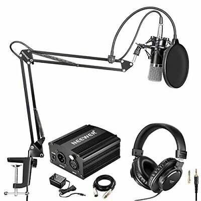 Neewer condenser microphone black silver NW-700 professional monitor he... JAPAN