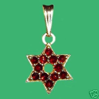18 Chain #ga94 14k Solid Yellow Gold Star of David Religious cz Pendant