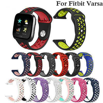Replacement Band Sport Breathable Silicon Wristband Strap for Fitbit Versa /Lite