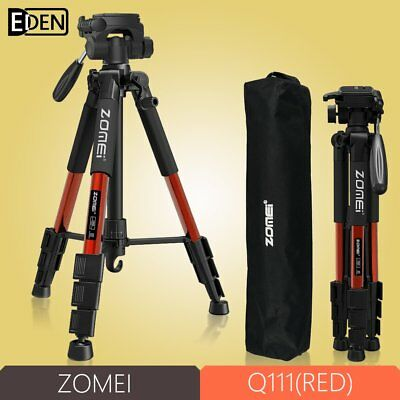 ZOMEI Q111Red Professional Aluminium Tripod monopod&Ball Head for DSLR Camera