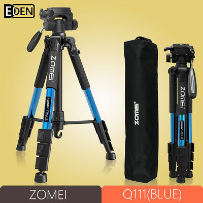 ZOMEI Q111Blue Professional Aluminium Tripod monopod&Ball Head for DSLR Camera
