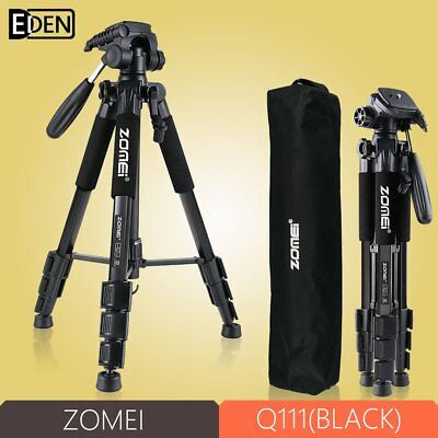 ZOMEI Q111Black Professional Aluminium Tripod monopod&Ball Head for DSLR Camera
