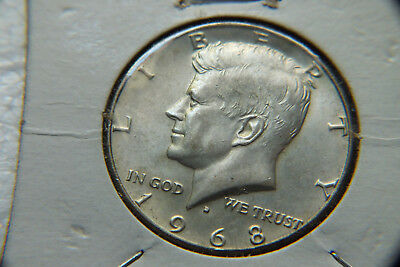 1968 Usa Half Dollar Coin.