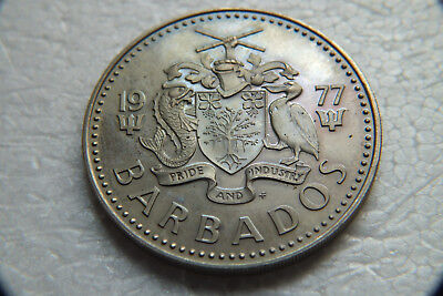1977 Barbados 2 Dollars proof coin only 5,014 minted.