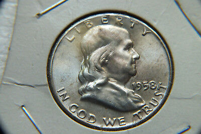 1958 Usa Half Dollar Coin.