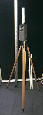 Vintage Cowley Automatic Level in Case, Wooden Tripod Made in Australia Survey