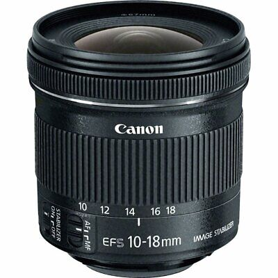 Brand New Original Canon EF-S 10-18mm f/4.5-5.6 IS STM  Black Lens IT*1