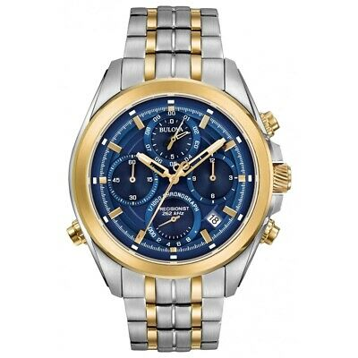 BULOVA Men Chronograph Watch Precisionist 98B276 Brand New
