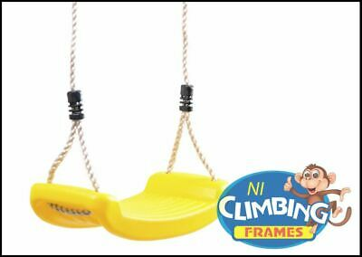 Children's Replacement YELLOW Swing Seat Height Adjustable Rope Climbing Frame