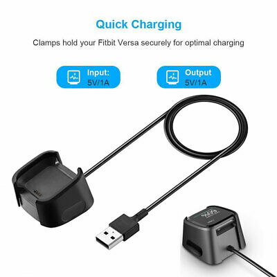 2019 Charging Dock For Fitbit Versa Smart Watch USB Data Cable Base Charger