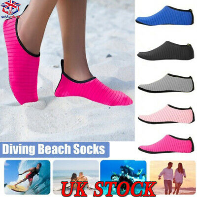 Men Women Water Skin Shoes Aqua Socks Diving Wetsuit Non-slip Swimming Beach UK