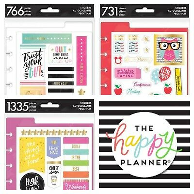 THE HAPPY PLANNER Accessories Stickers Teacher Students 112 731 766 99 1335  1349