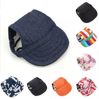 1x Cute Dog Baseball Cap Summer Canvas Puppy Small Pet Dog Cat Visor Hat Outdoor