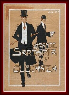 SARTORIA all ELEGANZA Rwpz-REPRODUCTION 40x60cm d'1 AFFICHE VINTAGE (BR*)