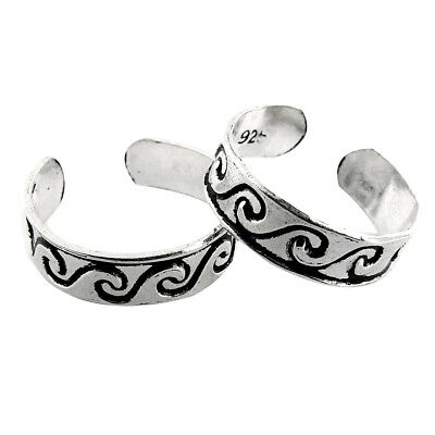 Fashion Jewelry Toe Ring Solid 925 Sterling Silver Adjustable Body Jewelry Traditional Zs25 Jewelry & Watches