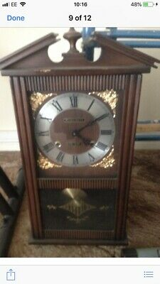 Lovely President Vintage Wind-up 30 Day Wall Clock. Chimes and With Pendulum