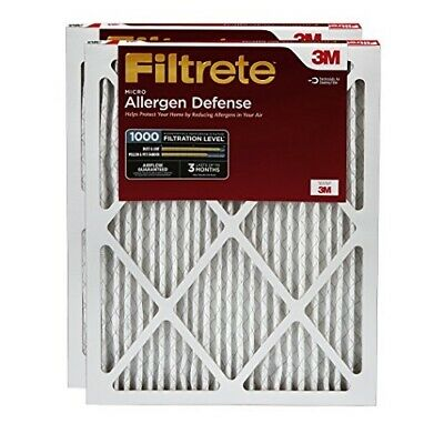 3M Filtrete 20 In. x 20 In. x 1 In. Allergen Defense 1000/1085 MPR Furnace Filte