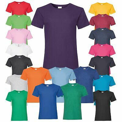 Fruit Of The Loom Girls Casual Crew Neck T-Shirt Cotton Tee Summer Casual Top