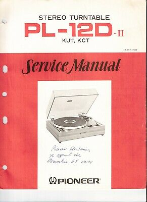 Pioneer PL-12D II Original Service Manual. Money Back Guaranty