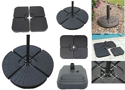 Parasol Cantilever Umbrella Base Stand Weights Sand Water Filled Garden Outdoor