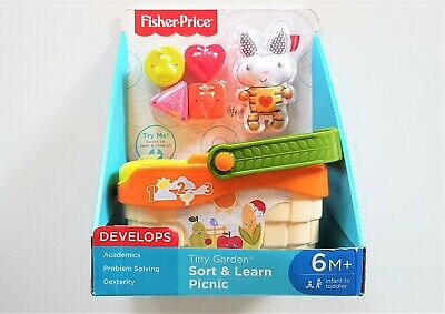 NEW Fisher-Price TINY GARDEN Sort & Learn Picnic - Fun Musical Learning Baby Toy