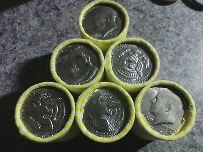HALF DOLLAR COIN ROLL  Possible 40-90% SILVER KENNEDY BANK SEALED LOT N.F.String