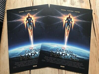 2X Captain Marvel Limited Edition Posters- Matt Ferguson,Odeon Exclusive!,NEW A4
