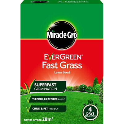 Miracle Gro Evergreen Fast Grass Lawn Seed 28 sqm  4 Day Germination 840g