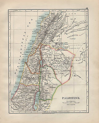 Galilee Samaria Judea Perea Phoenicia Decapolis Johnston 1906 Map Palestine
