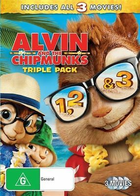 Alvin and Chipmunks Trilogy Triple Pack 1 2 and 3 DVD NEW Region 4