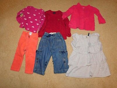 53f9ae8b4 BABY GIRL CLOTHES gap   Old Navy lot of 6 pcs 24 mon 2T Outfits ...