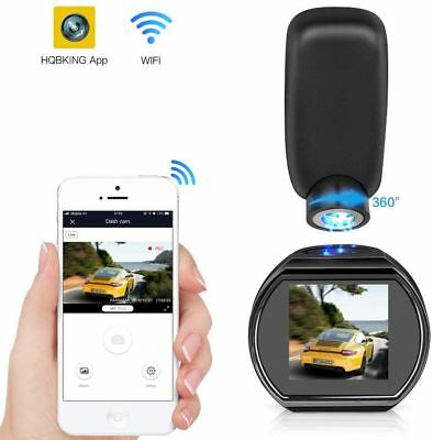 HQBKING Q1 WiFi Car Dash Cam Full HD 1080P Mini Dashboard Camera 360 Rotate...