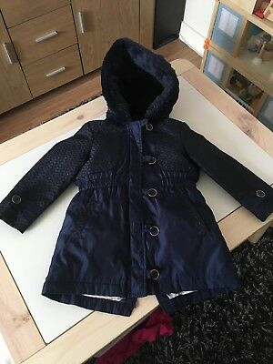 Beautiful Ted Baker Girls 18-24 Months Blue 3 In 1 Coat
