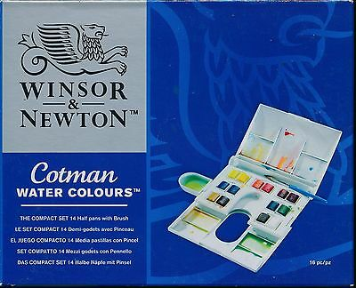 Winsor And Newton Cotman Water Colours Watercolours The Compact Set NEW