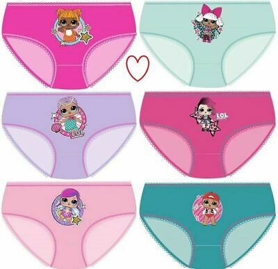 Childrens Girls LOL Surpirse Underwear Pants Knickers Cotton Briefs Multipack
