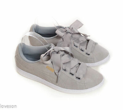 a4eb2fb040c0a2 PUMA Vikky NWT Gray Suede Soft Foam Comfort Insert Fashion Sneakers Shoes 10