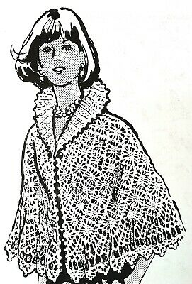 Reproduction 7325 Vintage Mail Order AFGHAN STITCH PONCHOS Patterns to Crochet