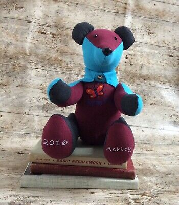 Unique Keepsake Memory Bear Handcrafted Personalised Made From Lovedones Clothes One Of A Kind