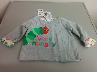 New with Tags - Very Hungry Caterpillar Baby Wrap Jacket Top Size 0 - Eric Carle