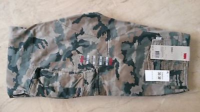 cfb4b50421 NWT Levis Cargo Military Camo Men's Tag Sz 33x32 Relaxed Fit Pants MSRP $64