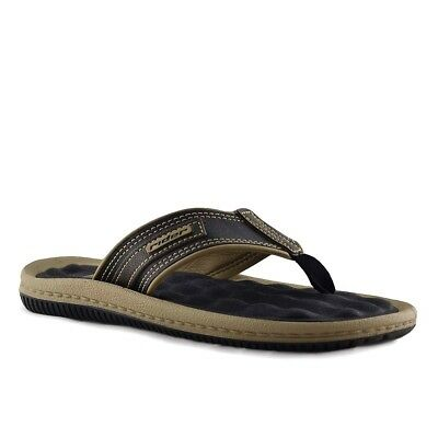 e6764304405b Rider Dunas II N Flip Flops Leather Beach Pool Fish Boat Sandals Brown Size  13