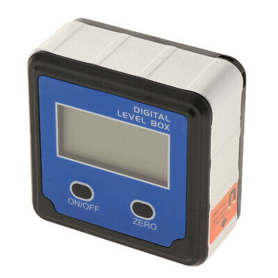 LCD Digital Angle Finder Magnetic Protractor Digital Level Inclinometer Blue