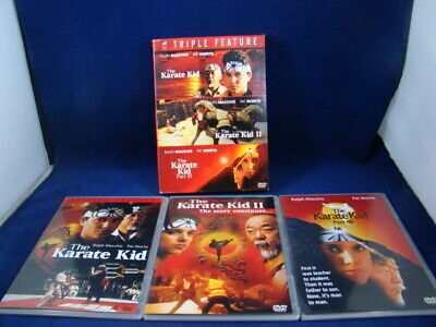 The Karate Kid, Ii, Iii - Triple Feature, 3 Disc Dvd Set - Preowned, Vg