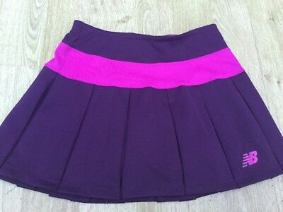 New Balance Ladies Hockey Tennis Badminton Sport Skort Skirt Pink Maroon Size Xs